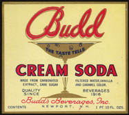 #ZLS150 - Budd Cream Soda Label