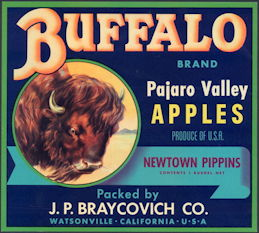 #ZLC037 - Buffalo Apple Crate Label