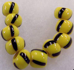 #BEADS0582 - Unusually Large Czech Glass Bumblebee Beads - As low as 10¢ each
