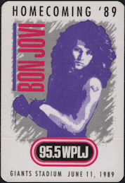 ##MUSICBP0680 - Bon Jovi OTTO Cloth Promotional Radio Patch from the 1989 Homecoming Tour