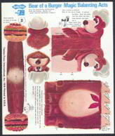 #DA044 - Four Different Large Tastee-Freez Punchout Toys