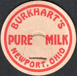 #DC250 - Burkhart's Pure Milk Bottle Cap - Newport, Ohio