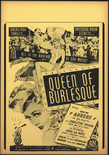 "#PINUP054 - Movie Poster/Broadside from the 1946 ""Queen of Burlesque"" Movie"