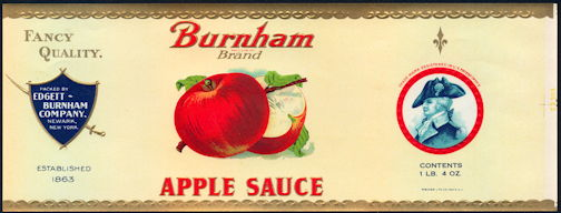 #ZLCA255 - Burnham Brand Apple Sauce Can Label