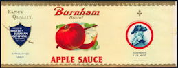#ZLCA255 - Burnham Brand Apple Sauce Can Label