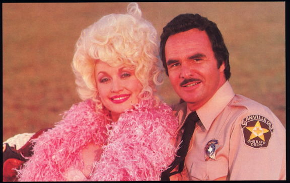 #CH396 - 1982 Postcard of Burt Reynolds and Dolly Parton - Best Little Whorehouse