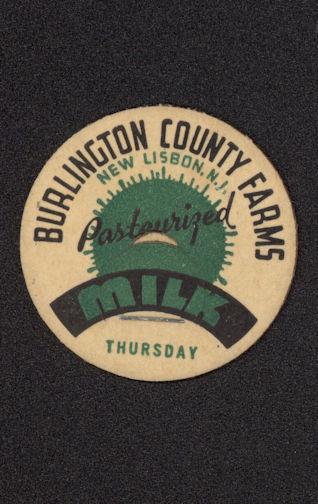 #DC131 - Burlington County Farms Milk Cap