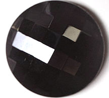 #BEADS0492 - Massive 30mm Black Fire Polished Glass Button  - As low as 35¢ each