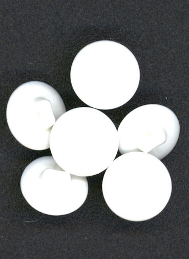 #BEADS0638 - PiecBlau Brand White Glass Button - Made in Japan