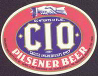 #ZLBE049 - Beautiful IRTP CIO Pilsener Beer Label
