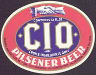 #ZLBE049 - Beautiful IRTP CIO Pilsener Beer Label