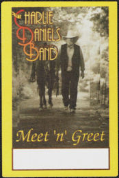 ##MUSICBP0737 - Group of 12 1990s The Charlie Daniels Band Cloth OTTO Cloth Backstage Passes