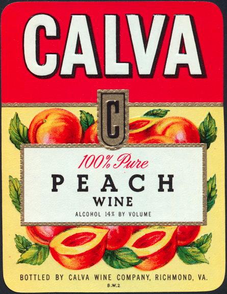 #ZLW083 - Calva Peach Wine Label