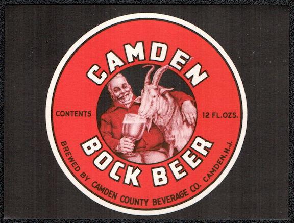 #ZLBE118 - Camden Bock Beer Bottle Label - Goat Drinking Beer