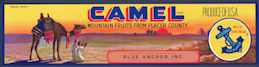 #ZLSG071 - Camel Fruit Crate Label - As low as 35¢ each
