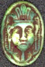 #BEADS0236 - Embossed Raised Glass Czech Pharoah Head Cameo
