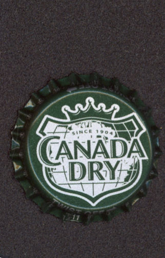 #BC099 - Group of 10 Canada Dry Plastic Lined Soda Caps
