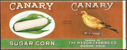 #ZLCA290 - Rare Canary Sugar Corn Can Label
