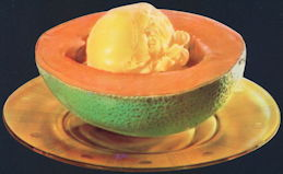 #SIGN187 - Diecut Cantaloupe and Ice Cream on a Plate Sign - As low as 50¢ each