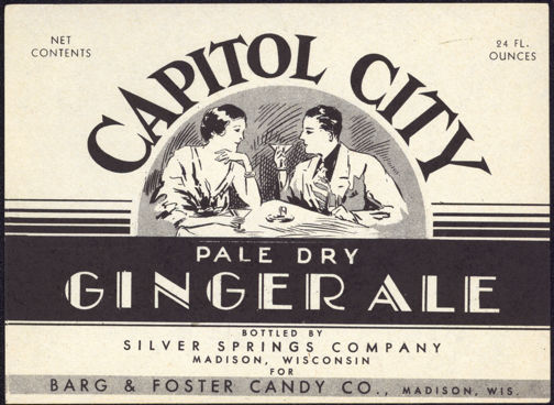 #ZLS147 - Capitol City Pale Dry Ginger Ale Soda Bottle Label