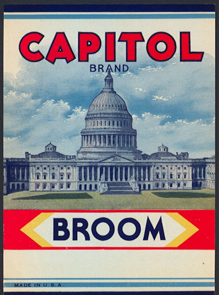 #ZLB044 - Capitol Broom Label