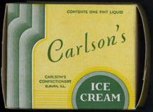 #DA061 - 1934 Carlson's Ice Cream Box
