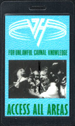 "##MUSICBP0749 - Van Halen Laminated OTTO Backstage Pass from the ""For Unlawful Carnal Knowledge"" Tour"