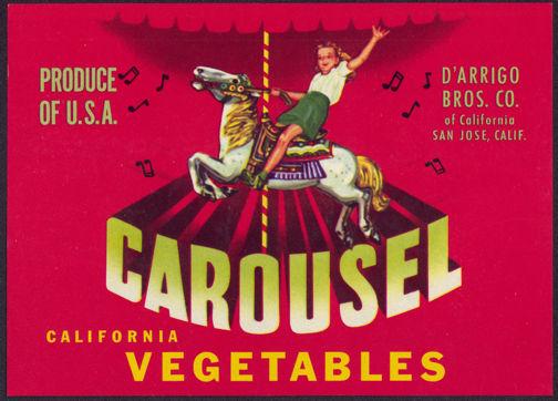 #ZLCA*051 - Carousel Brand Vegetable Crate Label