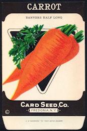CE103 - Danvers Half Long Carrot Card Seed Packet