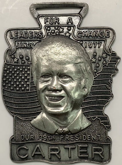 #PL056 - Pewter Colored  Jimmy Carter Fob