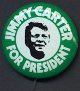 #PL308 - Jimmy Carter Silhouette Pinback from the 1976 Election Campaign