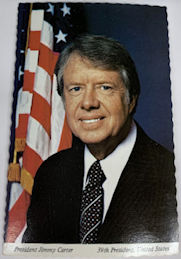 #PL372 - Jimmy Carter Postcard Celebrating the 1977 Inauguration