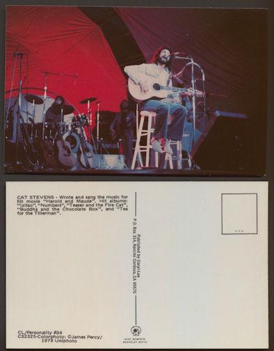 ##MUSICBG0076  -  Unused 1978 Cat Stevens Postcard