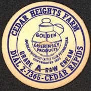 #DC144 - Early and Rare Cedar Heights Farm Golden Guernsey Milk Cap