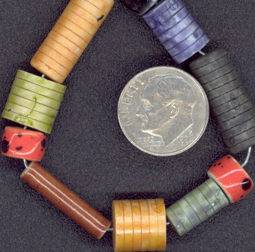 #BEADS0032 - Group of 100 Ceramic Multi-Colored Hippie Beads