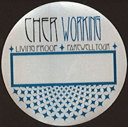 ##MUSICBP0473 - Cher Working Cloth Perri Backstage Pass from the Living Proof Farewell Tour