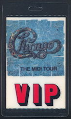 ##MUSICBP0143 - Rare Chicago Laminated OTTO VIP Backstage Pass from the 1987 Midi Tour