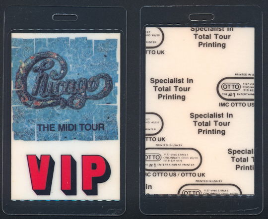 ##MUSICBP0143 - Chicago Laminated OTTO Backstage Pass from the 1987 Midi Tour - As low as $4 each