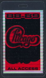 ##MUSICBP0308 - Chicago Laminated Early Foil OTTO Backstage Pass from the 1988-89 Tour