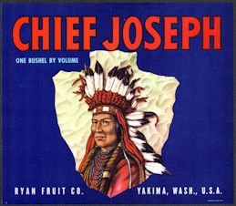 #ZLSH004 - Group of 12 Chief Joseph Crate Labels