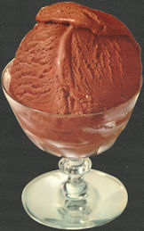 #SIGN225 - Diecut Diner Sign of Chocolate Ice Cream in a Glass Goblet