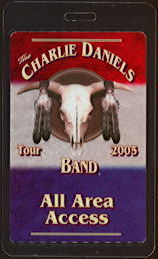 ##MUSICBP0475 - Charlie Daniels Band Laminated OTTO Backstage All Access Backstage Pass from the 2005 Tour