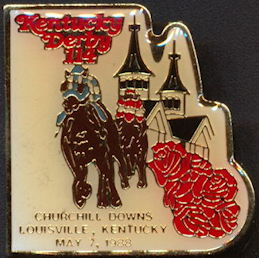#BA125 - 114th Licensed Kentucky Derby Cloisonne Pin