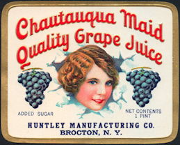 #ZBOT007 - Early Chautauqua Maid Quality Grape Juice Jar Label