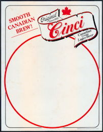 #SP070 - Group of 12 Cinci Cream Lager Beer Menu Signs