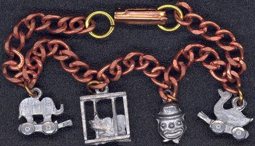 #BEADS0447 - Copper Circus Charm Bracelet