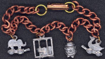 #BEADS0447 - Copper Circus Charm Bracelet