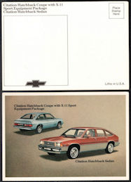 #CA518 - 1981 Citation Hatchbacks Dealer Postcard