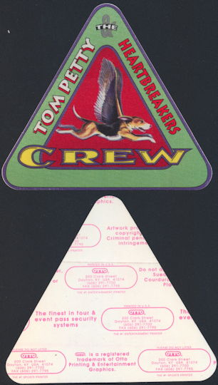 ##MUSICBP0240 - Tom Petty OTTO Cloth Backstage Crew Pass from the 1995 Dogs with Wings Tour