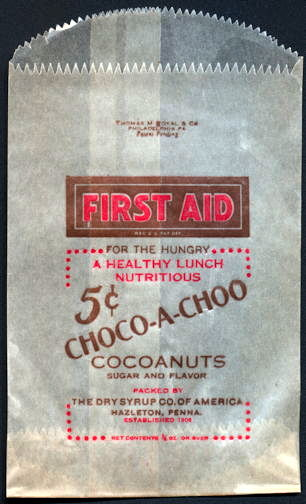 #PC105 - Group of 4 Choco-A-Choo 5¢ Chocolate Snack Bags
